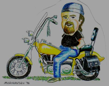 Motorcycle illustration at age 41